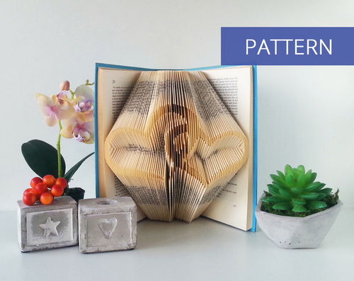 Bookfolding patterns Interlaced Hearts