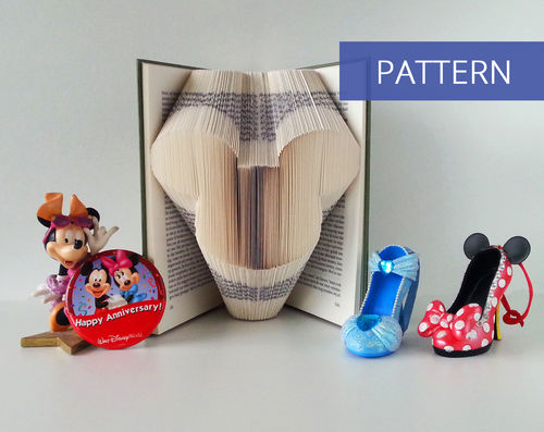 Folded Book Art Pattern Mickey