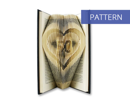 Folded Book Art Pattern Number 50 in a heart