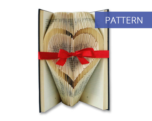 Folded Book Art Pattern Open Heart