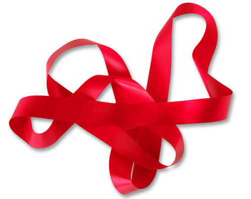 Custom Printed Ribbon - Red