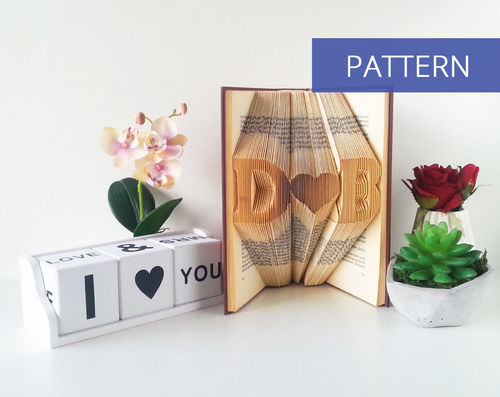 Custom DIY Pattern Initials with a heart