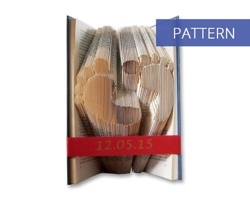 Bookfolding patterns Babyfeet