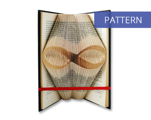 Folded Book Art Pattern Infinity Symbol