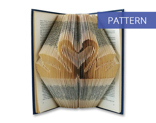 Folded Book Patterns Kissing Swans