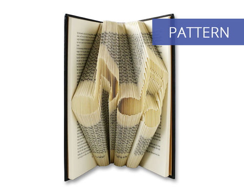 Folded Book Art Pattern Musical Notes