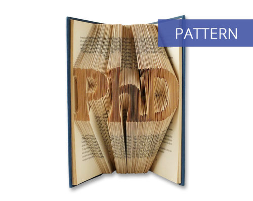 Folded Book Art Pattern PhD