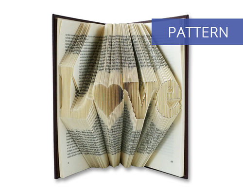 Bookfolding patterns Love with a heart