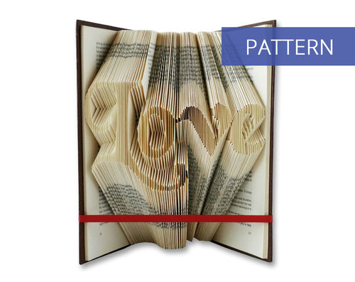 Folded Book Patterns Love in handwriting