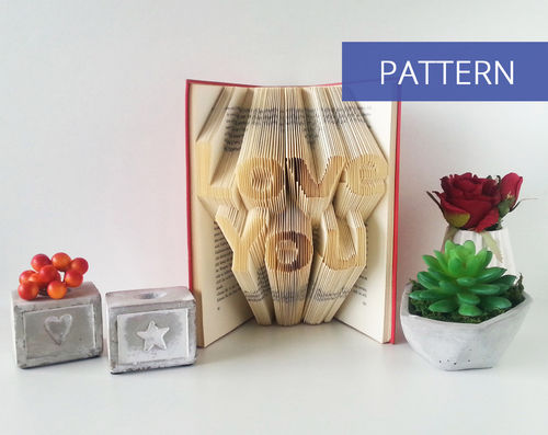 Bookfolding patterns Love You