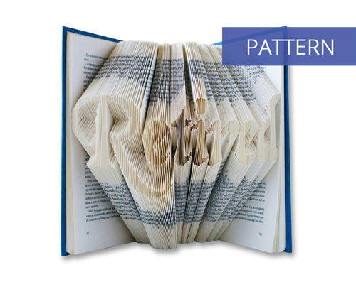 Bookfolding patterns Retired in handwriting