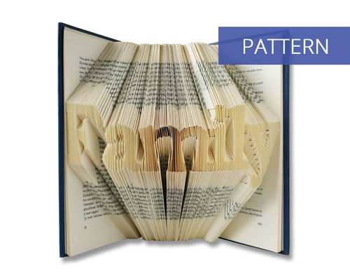 Folded book art pattern Family