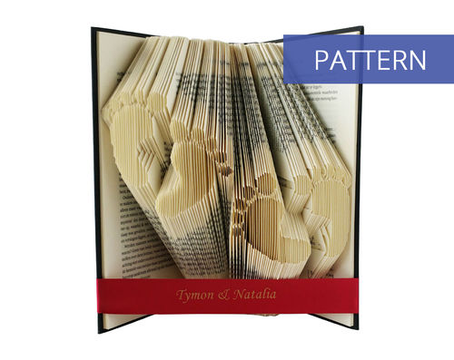 Folded Book Art Pattern Twins Babyfeet