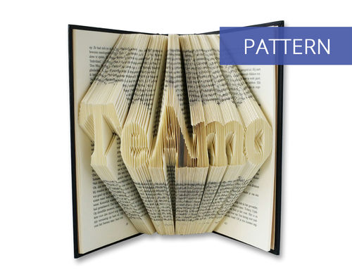 Bookfolding patterns Te Amo