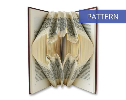 Folded book art pattern Batman