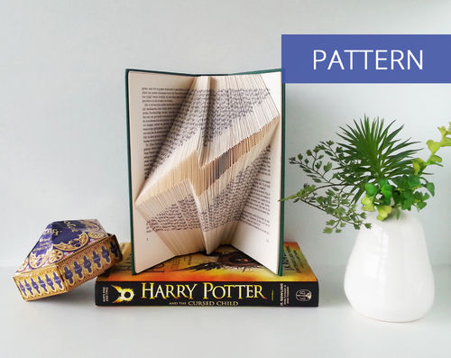 Folded Book Patterns Harry Potter Scar