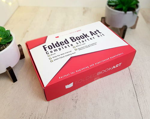 Create your own folded book art DIY Starter Set