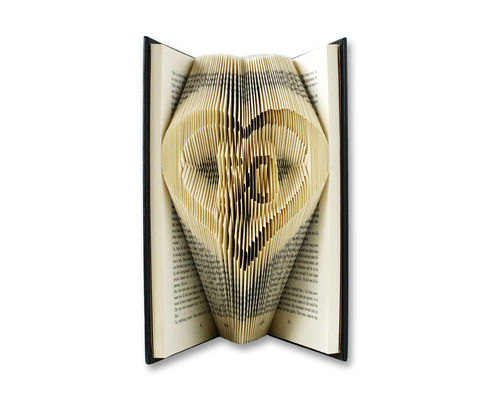 Number 50 in a heart - Folded Book
