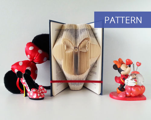 Folded Book Art Pattern Minnie Mouse