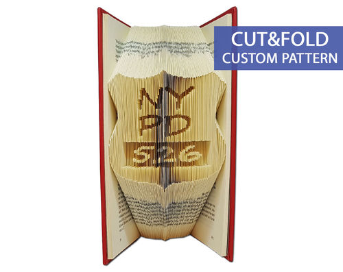 Custom Folded Book Art Pattern - Cut & Fold - Police Badge for any department