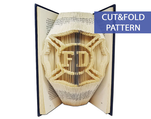 Folded Book Art Pattern - Cut & Fold - Fire Department