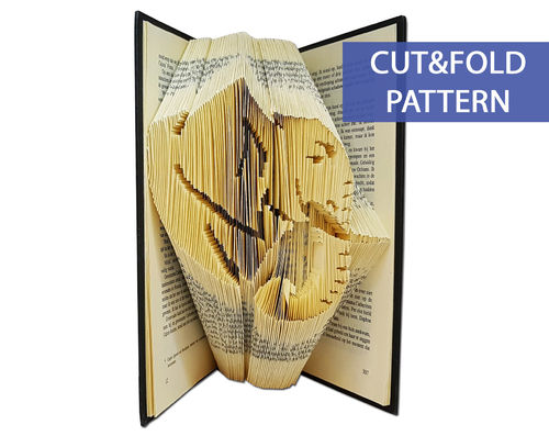 Folded Book Art Pattern - Cut & Fold - Elephant