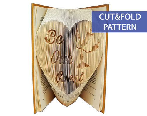 Folded Book Art Pattern - Cut & Fold - Be Our Guest