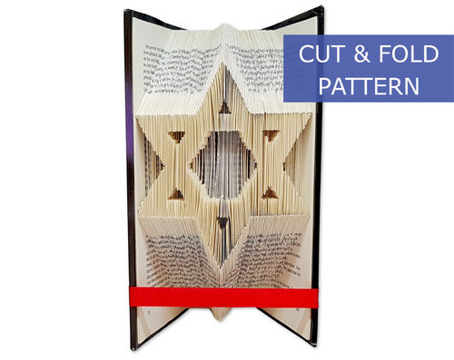 Folded Book Art Pattern - Cut & Fold - Star of David