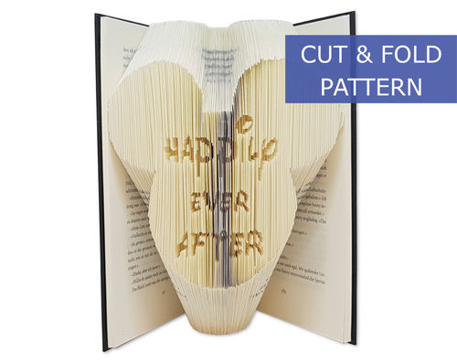 Folded Book Art Pattern - Cut & Fold - Happily ever after