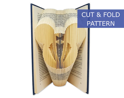 Folded Book Art Pattern - Cut & Fold - Mickey Groom
