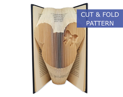 Folded Book Art Pattern - Cut & Fold - Minnie Bride