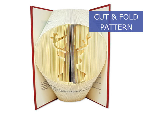 Folded Book Art Pattern - Cut & Fold - Reindeer