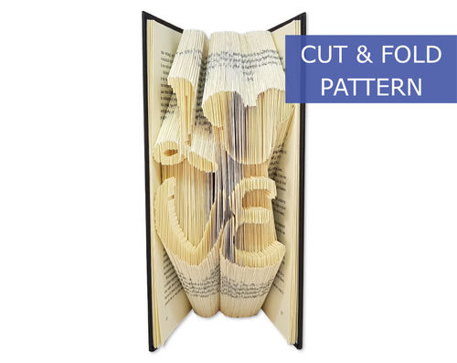 Folded Book Art Pattern - Cut & Fold - Love with Mickeyhead