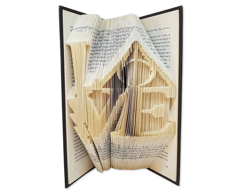 Folded Book Art Pattern - Cut & Fold - Love in Harry Potter Style