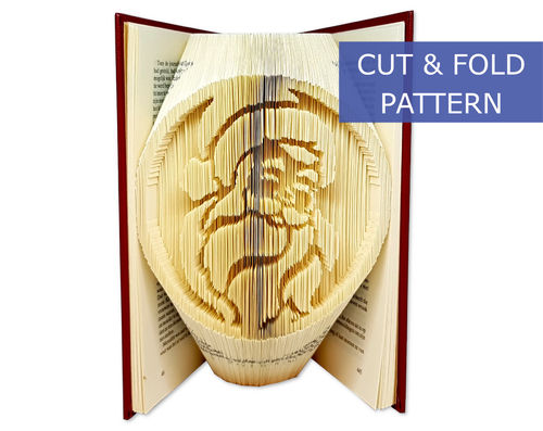 Folded Book Art Pattern - Cut & Fold - Santa