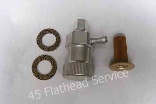 Gasstrainer with seals, for use with rubber fuel line, all