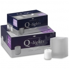 Q-Lights® Square Ribbed glass Melk Glas