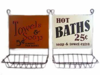 Zeepbakjes Hot Baths & Towels and Soap s/2