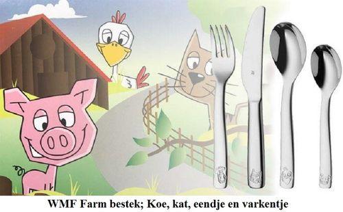 WMF Kinderbestek Farm 4-delig
