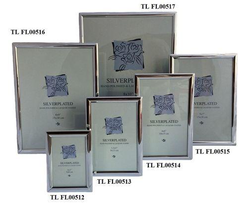 Fotolijst verzilverd glad 13 x 18