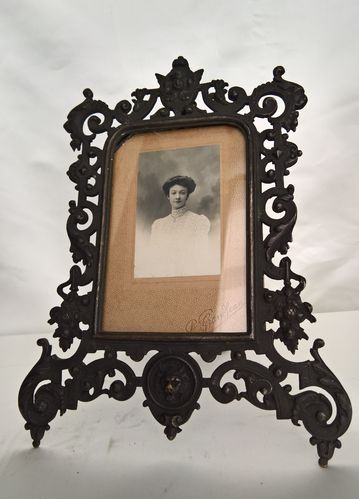 Picture frame, black patinated bronze, around 1880