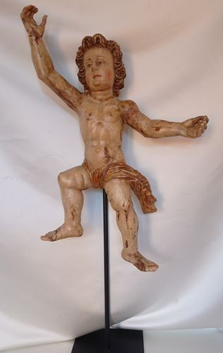 Carved wood putto, Italy, 18th century