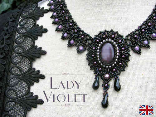Tutorial for necklace 'Lady Violet' - English