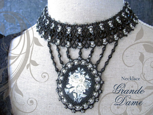 Tutorial for necklace 'Grande Dame' - English