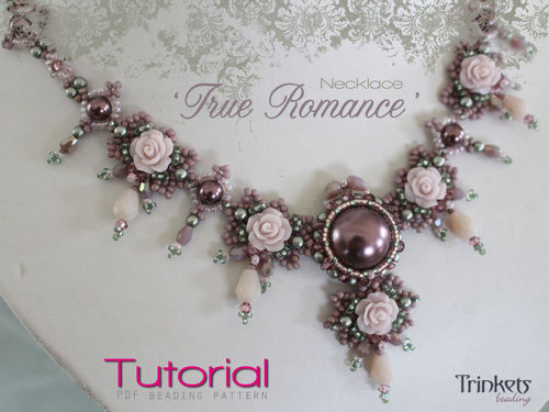 Beading pattern for necklace 'True Romance'