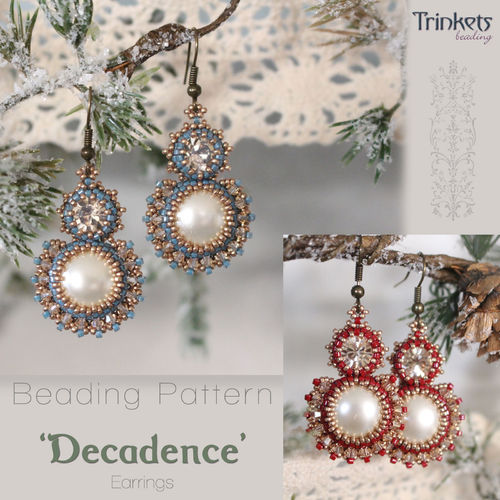 Beading pattern for earrings 'Decadence'