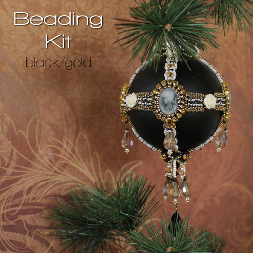 Beading kit for Edwardian Christmas Ornament
