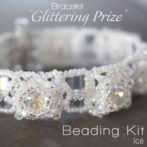 Beading kit for bracelet 'Glittering Prize' - Ice