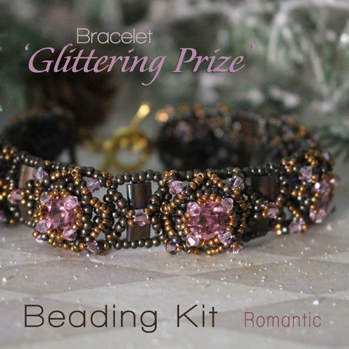 Beading kit for bracelet 'Glittering Prize' - Romantic