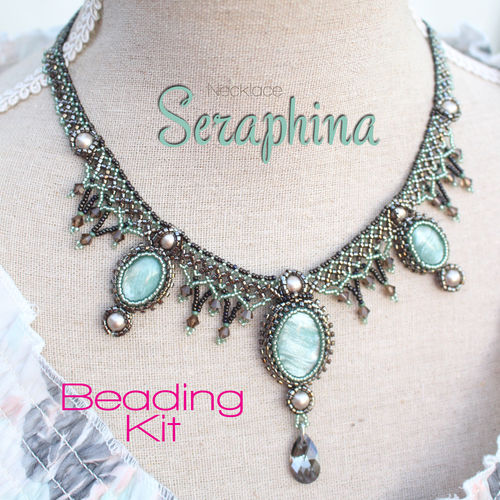 Beading kit - necklace 'Seraphina' - Green